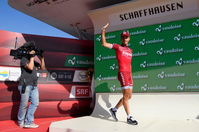 Spilak apprécie la Suisse: victoire au TdS 2017 et 2015 et succès au Tour de Romandie 2010. [Gian Ehrenzeller - Keystone]