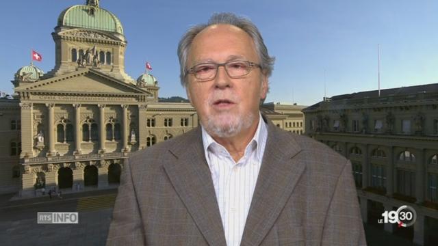 Moutier devient jurassien: les explications de Dick Marty, président assemblée interjurassienne [RTS]