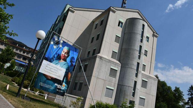 Le site de Delémont de l'Hôpital du Jura. [Gaël Klein - RTS]
