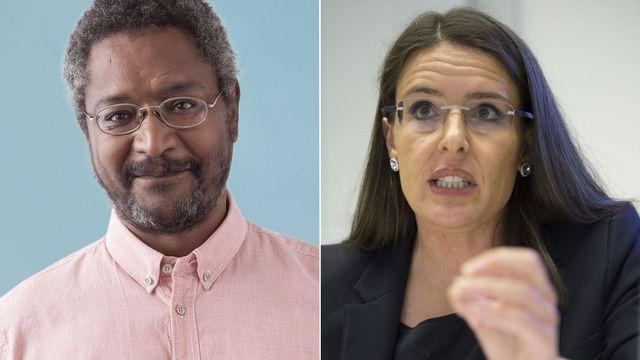 Mohamed Hamdaoui et Anne-Caroline Graber. [PS/Keystone]