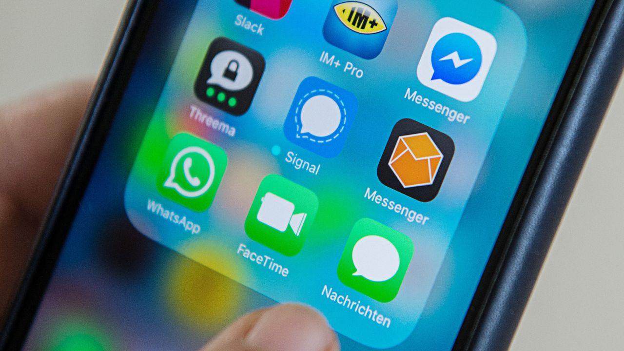 L'Allemagne élargit la surveillance des messageries cryptées Whatsapp et Skype. [Wolfram Kastl - Keystone]