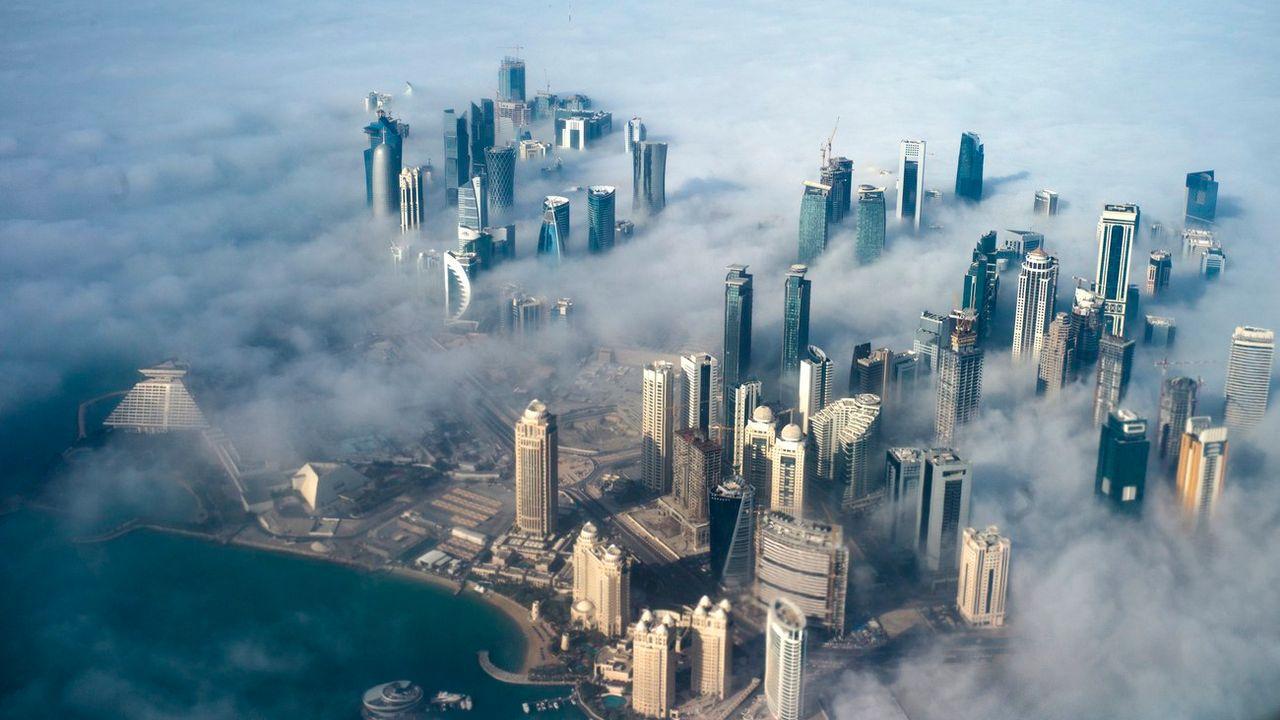 Une vue aérienne de Doha. [YOAN VALAT - KEYSTONE]