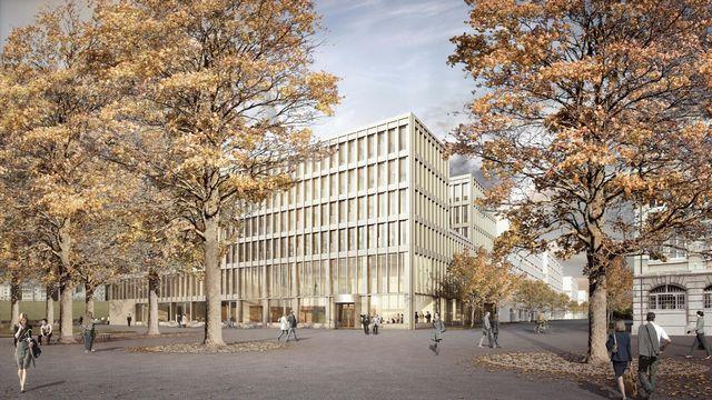 La maquette du nouvel Hôtel judiciaire de La-Chaux-de-Fonds. [Isler Gysel Architekten - DR]