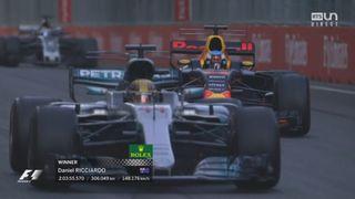 GP d'Azerbaïdjan: victoire de Ricciardo (AUS) devant Bottas (FIN) 2e et Stroll (CAN) 3e [RTS]