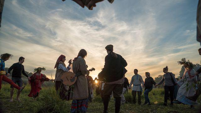 Des païens russes fêtent le solstice d'été. [Andrei BORODULIN - AFP]
