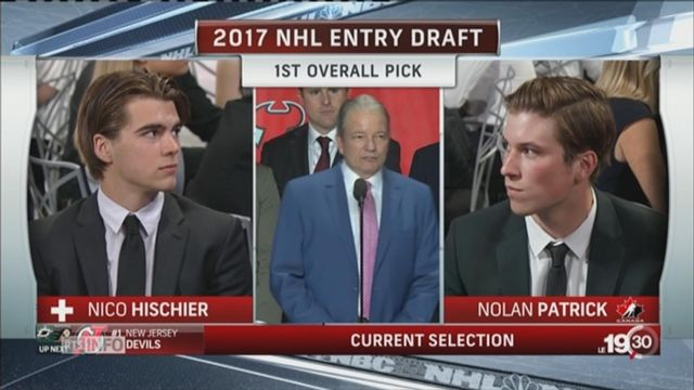 Hockey sur glace: Nico Hischier entre dans l'histoire [RTS]