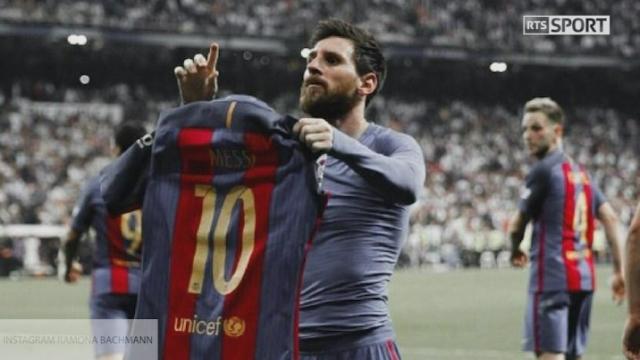 Ramona Bachmann et Lionel Messi [RTS]