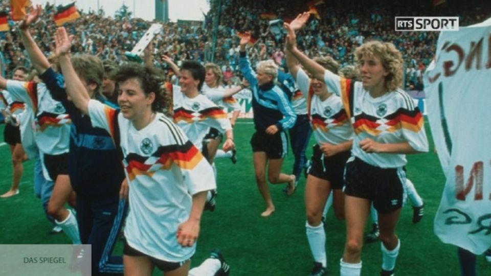 Martina Voss-Tecklenburg et le titre de l'Allemagne à l'Euro 1989 [RTS]