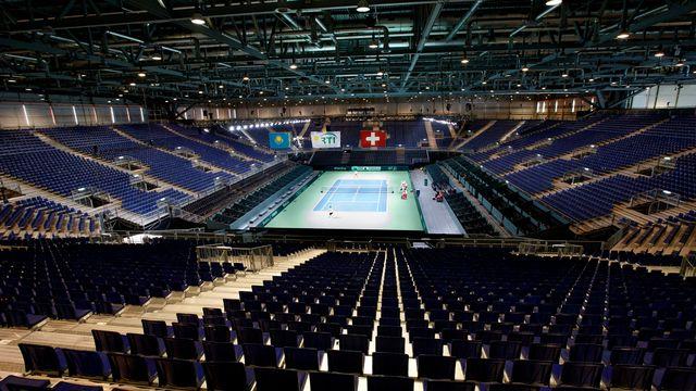 Genève a été choisie pour être de 2018 à 2020 le théâtre des finales conjointes de Coupe Davis et de Fed Cup. [Salvatore Di Nolfi - Keystone]