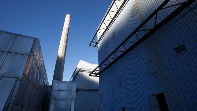 L'ancienne usine thermique de Chavalon (VS). [Salvatore Di Nolfi - Keystone]