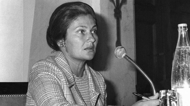 Simone Veil en 1975. [AFP]