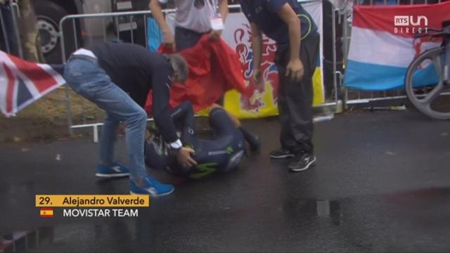 Etape 1: la chute d'Alejandro Valverde (ESP) [RTS]