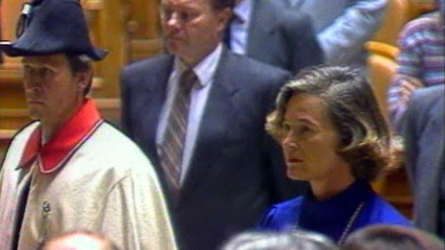 Elle est la première femme à entrer au gouvernement fédéral. [RTS]