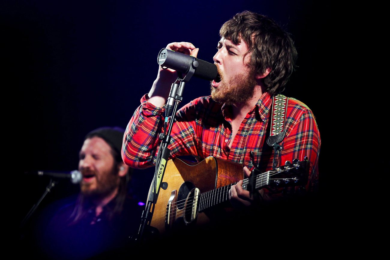 Robin Pecknold, chanteur des Fleet Foxes, en 2011 à Alges au Portugal.