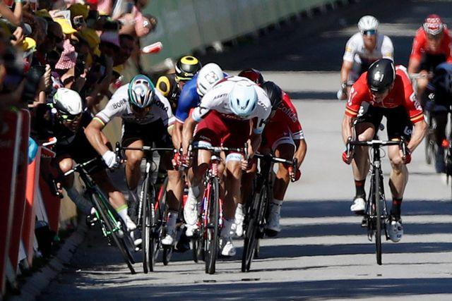 Le Slovaque Peter Sagan exclu du Tour de France (jury des commissaires). [Yoan Valat  - Reuters]