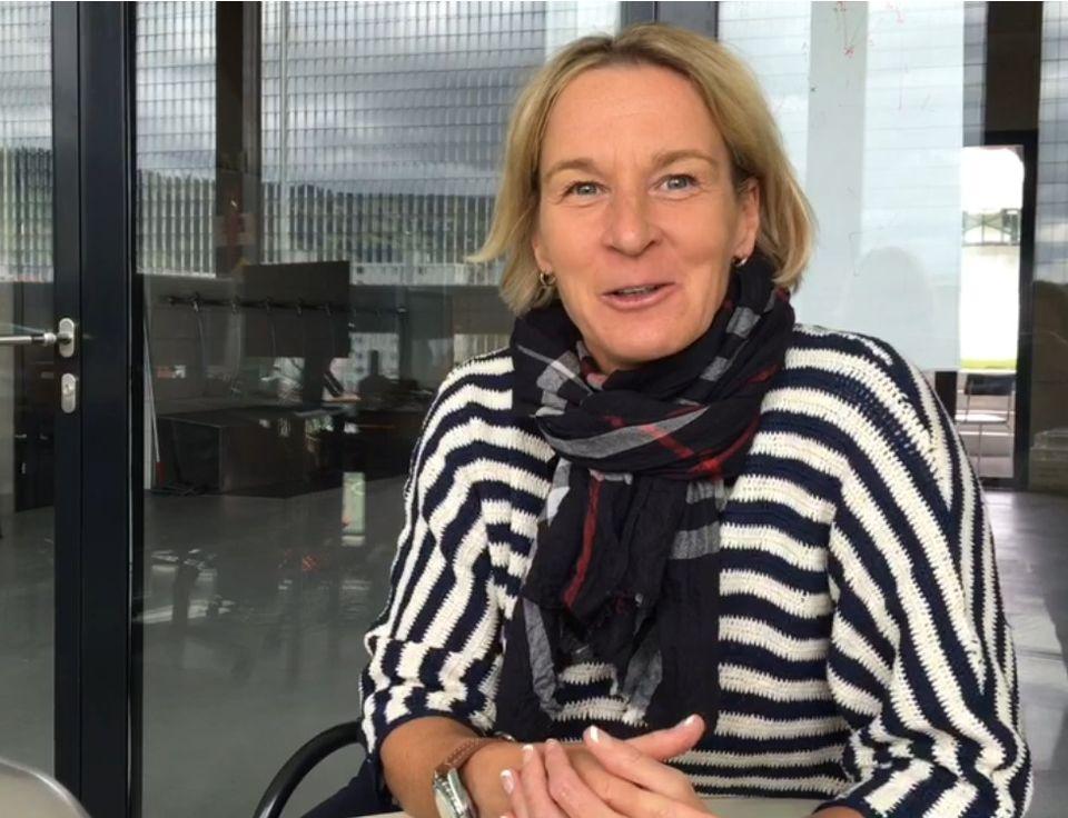 Martina Voss-Tecklenburg a remporté 4 fois l'Euro en tant que joueuse. [Jennifer Ballmer - RTS]