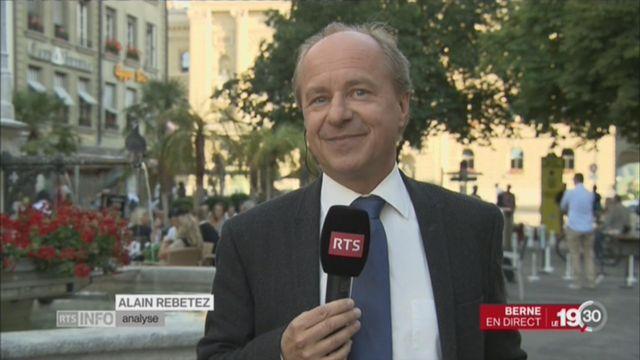 Ignazio Cassis et les assureurs: l'analyse d'Alain Rebetez [RTS]