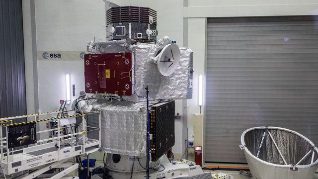 Le nouvel engin spatial BepiColombo, qui doit atteindre Mercure en 2025. [ESA–C. Carreau, CC BY-SA 3.0 IGO ]