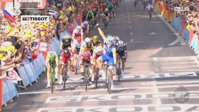 Tour de France, 6e étape: Marcel Kittel (GER) s'impose au sprint devant Démare (FRA) et Griepel (GER) [RTS]