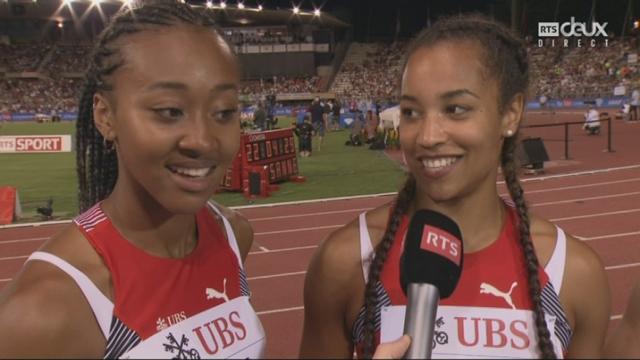 La première réaction des relayeuses suisses après leur record national [RTS]
