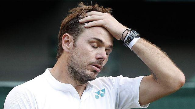 Elimination prématurée pour le vaudois Stan Wawrinka lors du tournoi de Wimbledon 2017. Adrian Dennis AFP [Adrian Dennis - AFP]