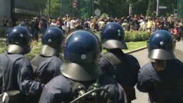 En marge du G8 d'Evian, manifestation à Genève. [RTS]