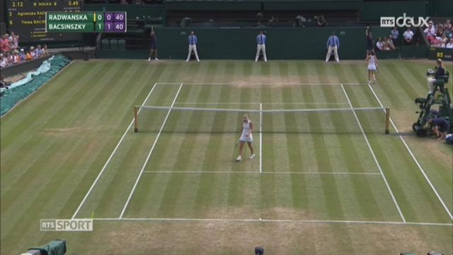 Tennis - Wimbledon: Bacsinszky se fait éliminer par Radwanska [RTS]