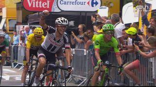 Tour de France, 9e étape: Uran (COL) s'impose devant Barguil (FRA) 2e et Froome (GBR) 3e [RTS]