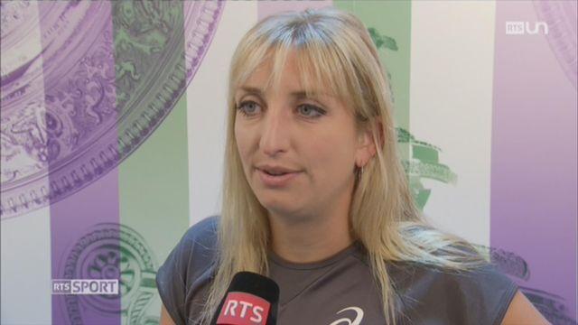 Tennis - Wimbledon: la réaction de Timea Bacsinszky après sa défaite [RTS]