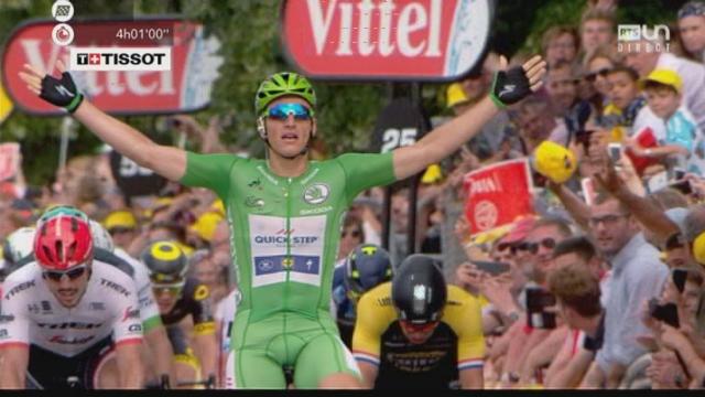 Tour de France, 10e étape: Marcel Kittel (GER) remporte l'étape devant John Degenkolb (GER) et Dylan Van Groenewegen (NED) [RTS]