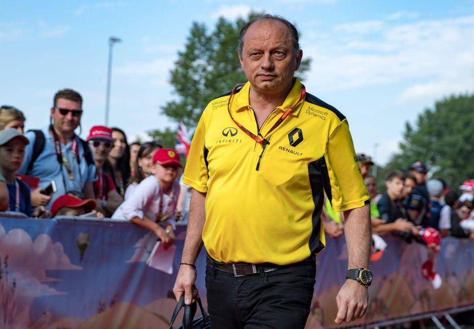 Frédéric Vasseur avait occupé le poste de directeur de la compétition chez Renault en 2016. [Johann Groder - Keystone]