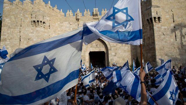 Marche du drapeau à Jérusalem en juin 2016. [Abir Sultan - EPA/Keystone]