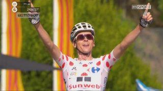 Tour de France, 13e étape: le Français Warren Barguil va chercher la victoire d'étape, devant Nairo Quintana (COL) et Alberto Contador (ESP) [RTS]
