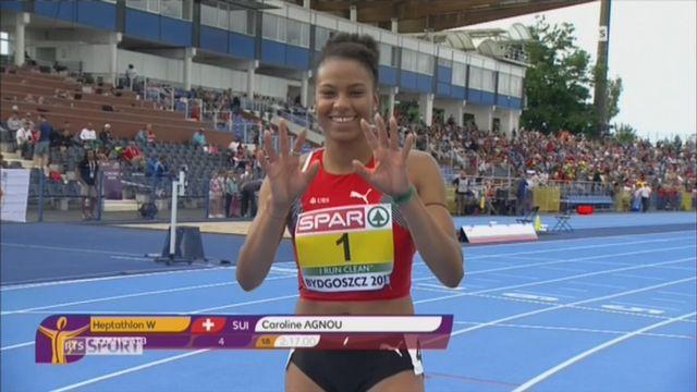 Athlétisme-Championnats d'Europe M23: Caroline Agnou décroche l'or à l'heptathlon à Bydgoszcz [RTS]