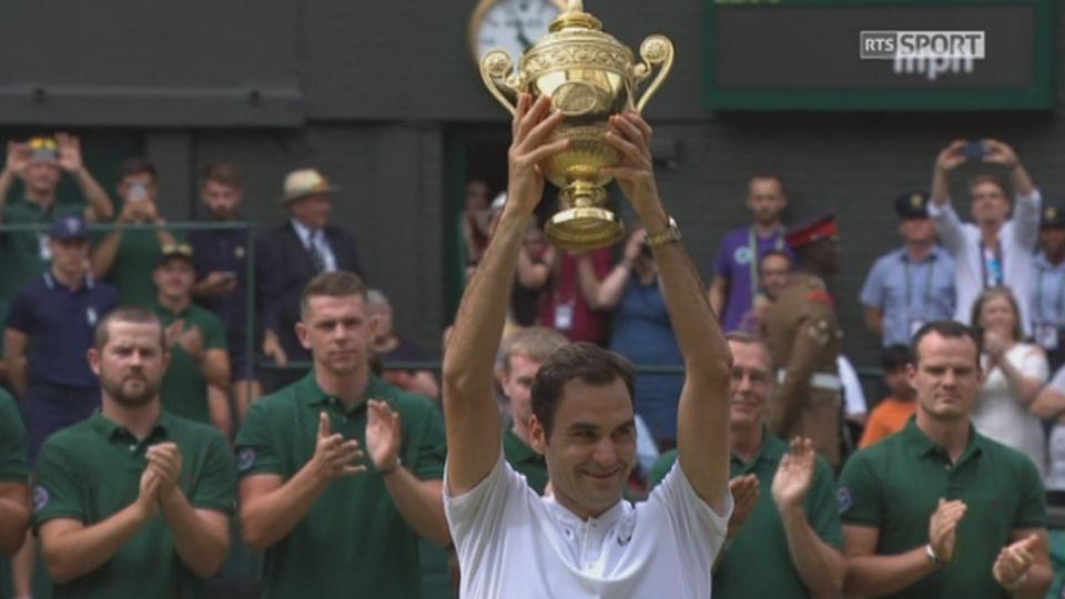 Wimbledon, finale: Federer (SUI) - Cilic (CRO) 6-3 6-1 6-4: remise du trophée [RTS]