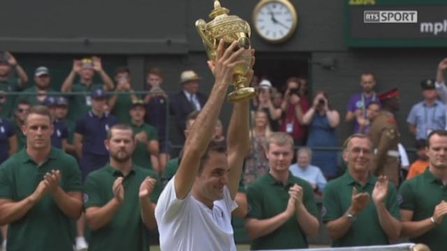 Wimbledon, finale: les meilleurs points de Roger Federer lors de sa finale contre Marin Cilic [RTS]