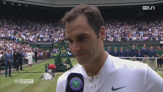 Wimbledon - Victoire Federer: réaction de Roger Federer [RTS]