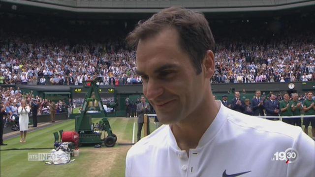 Roger Federer remporte son 8e titre à Wimbledon: un record! [RTS]