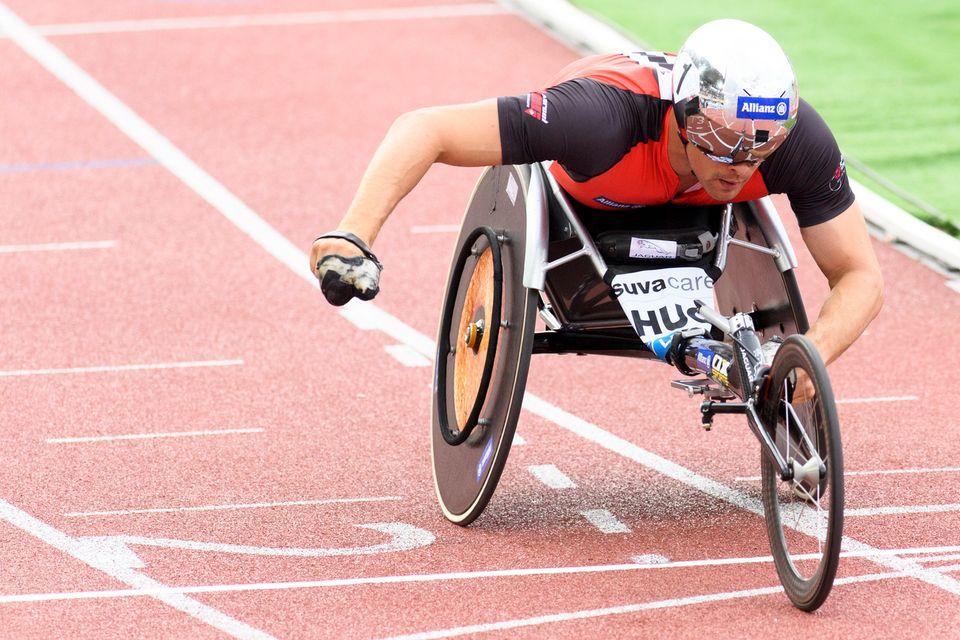 Marcel Hug avait déjà remporté 2 médaille d'or et 2 d'argent aux Paralympiques de Rio. [Martial Trezzini - Keystone]