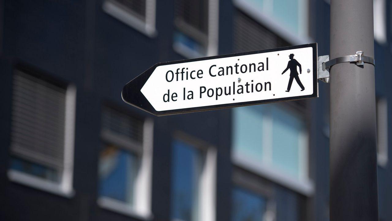 L'office cantonale de la population et migrations de Genève. [Martial Trezzini - Keystone]