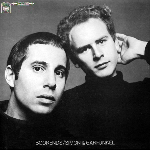 "La cover de ""Bookends"" de Simon & Garfunkel."