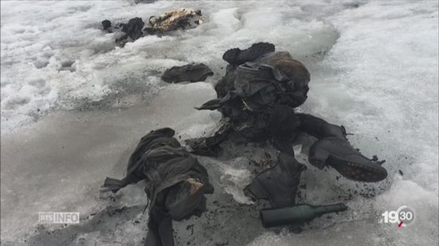 Glacier des Diablerets: deux corps momifiés ont été découverts [RTS]