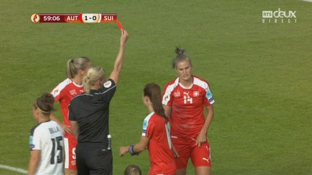 Groupe C, Autriche – Suisse 1-0, 60e Kiwic (carton rouge) [RTS]