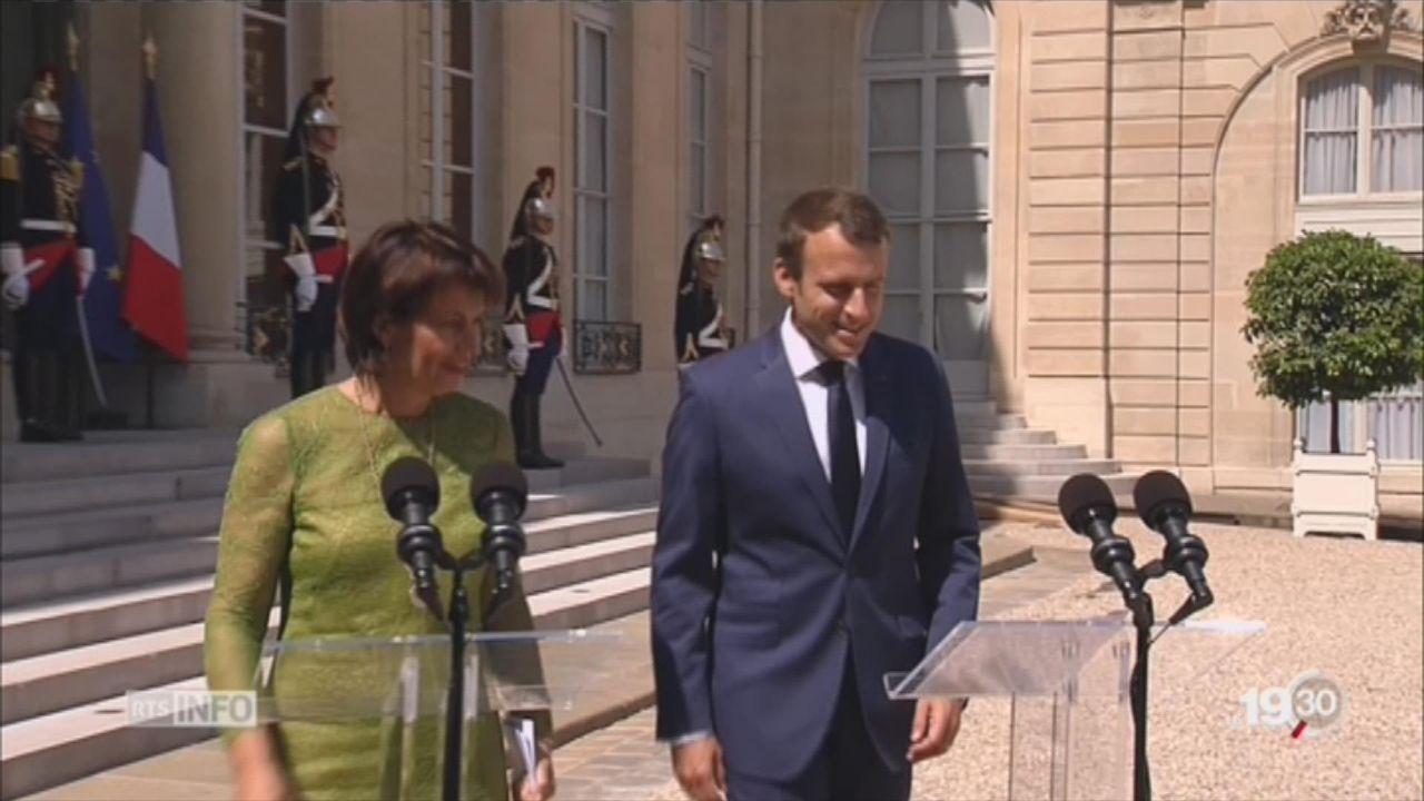 Doris Leuthard a rencontré le président Macron [RTS]