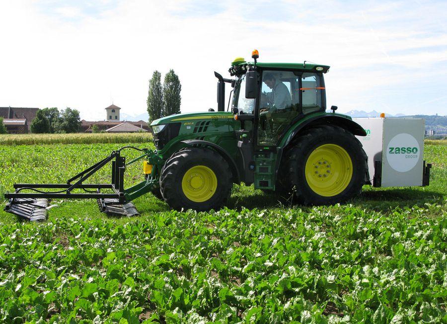 Le prototype a été testé sur un tracteur début juin à Biezwil.