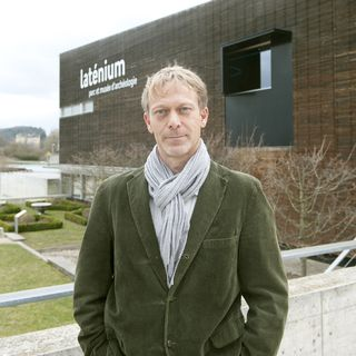 Marc-Antoine Kaeser, directeur du Laténium - Parc et Musée d'archéologie de Neuchâtel. [J. Roethlisberger - Laténium]