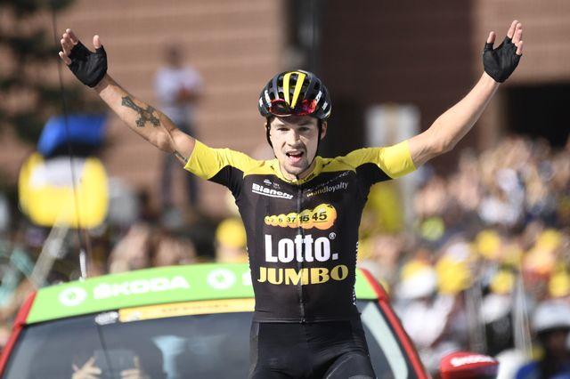 Roglic apporte un premier succès d'étape à son pays sur la Grande Boucle. [Philippe Lopez - AFP]