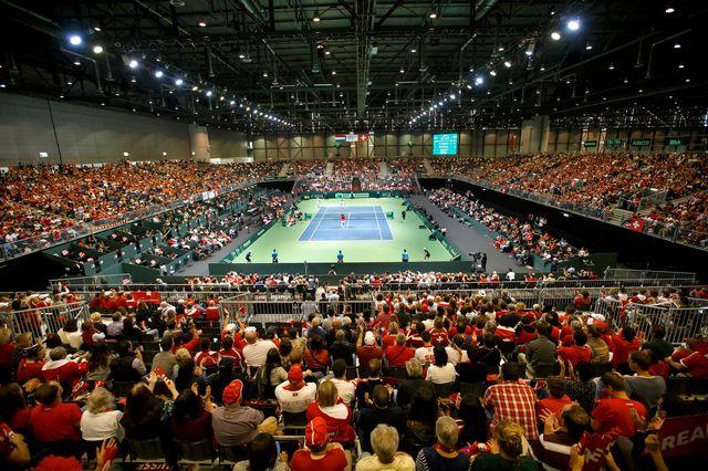 Palexpo va devenir la capitale du tennis durant 3 ans. [Salvatore Di Nolfi - Keystone]