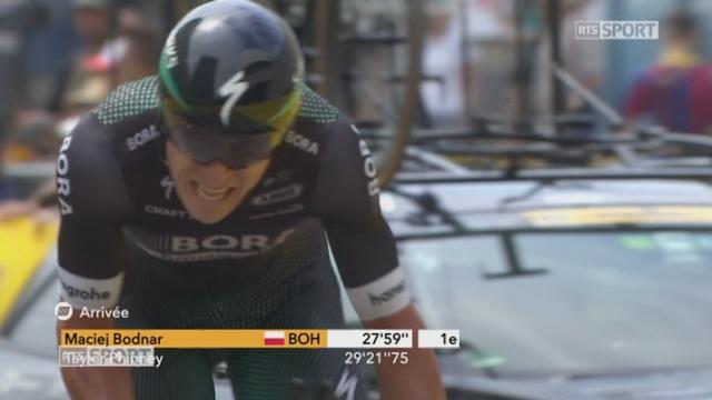 Maciej Bodnar (POL) s'impose en contre-la-montre à la surprise générale, Froome (GBR) conserve son maillot jaune [RTS]