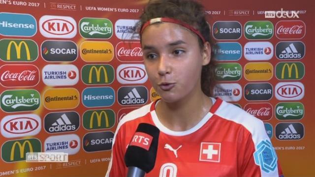 Groupe C, Islande – Suisse 1-2, les réactions de Cinzia Zehnder et de Lara Dickenmann après la victoire helvétique [RTS]